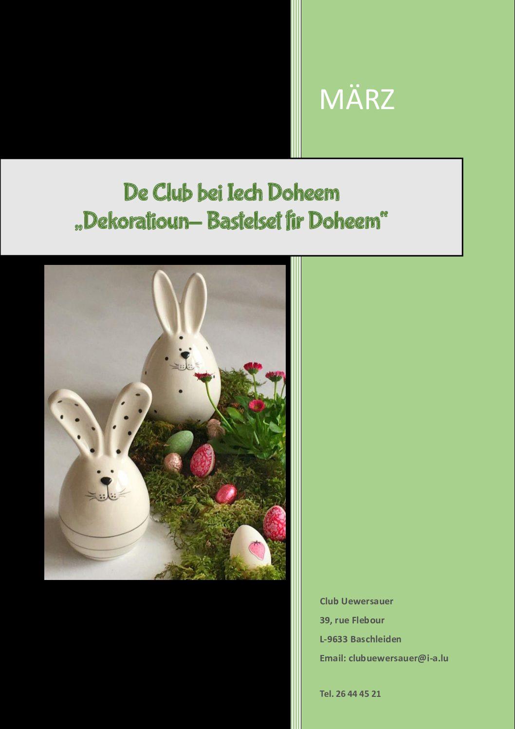 Club Uewersauer - Katalog Mäerz 2021
